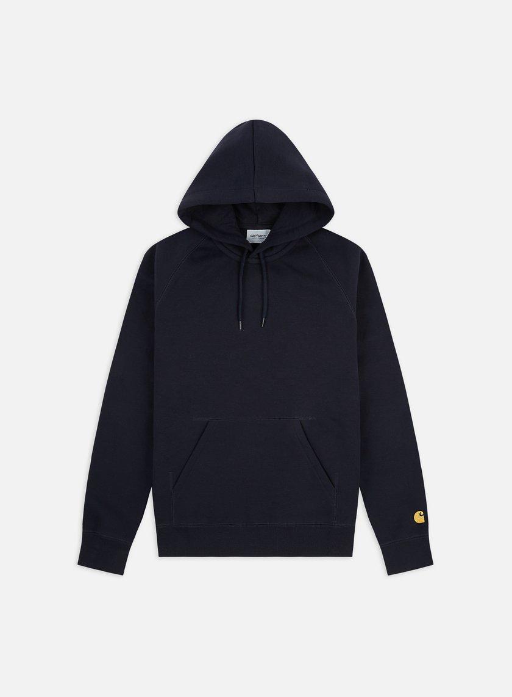 Carhartt - Hooded Chase Sweatshirt, Dark Navy/Gold