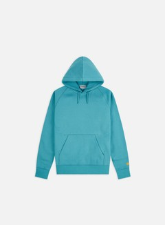 Carhartt - Hooded Chase Sweatshirt, Frosted Turquoise/Gold