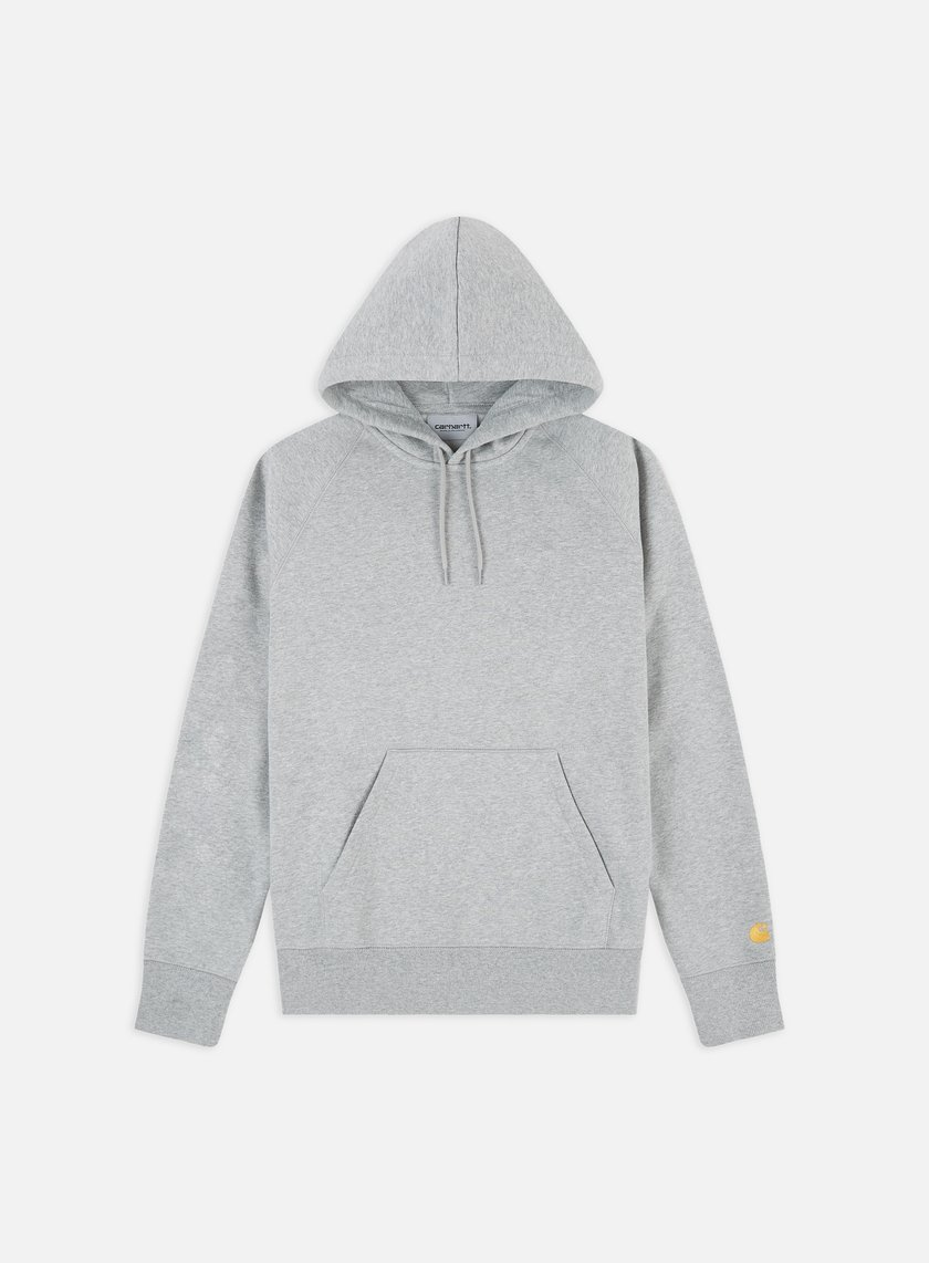 Carhartt - Hooded Chase Sweatshirt, Grey Heater