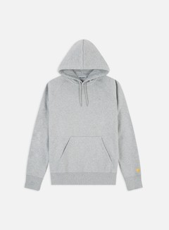 Carhartt - Hooded Chase Sweatshirt, Grey Heater/gold