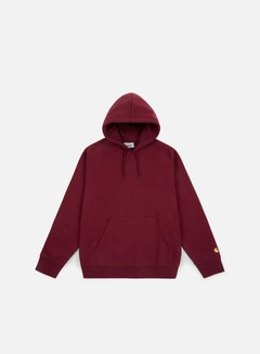 Carhartt - Hooded Chase Sweatshirt, Mulberry/Gold