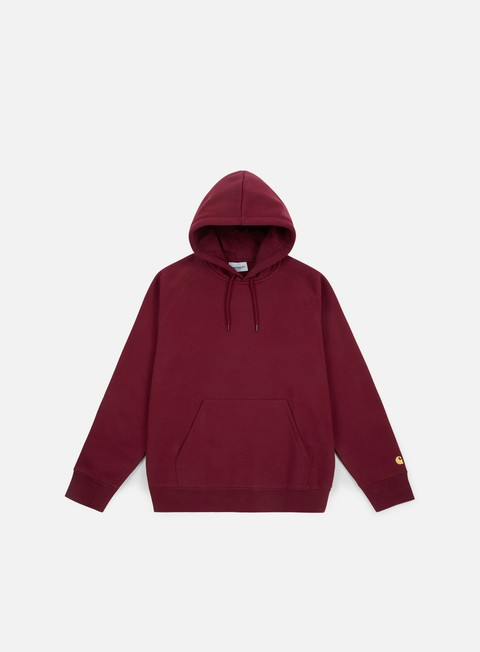 felpe carhartt hooded chase sweatshirt mulberry gold