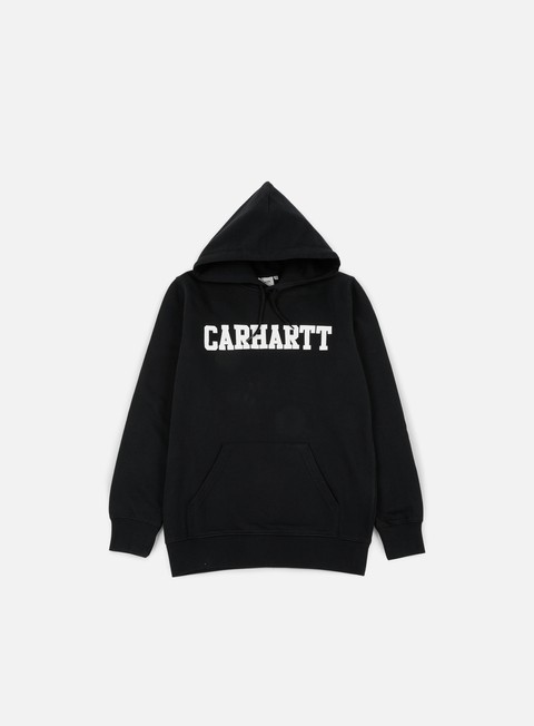 felpe carhartt hooded college sweatshirt black white
