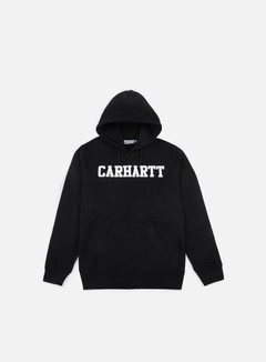 Carhartt - Hooded College Sweatshirt, Black/White