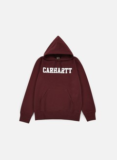 Carhartt - Hooded College Sweatshirt, Chianti/White