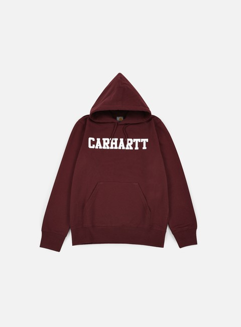felpe carhartt hooded college sweatshirt chianti white