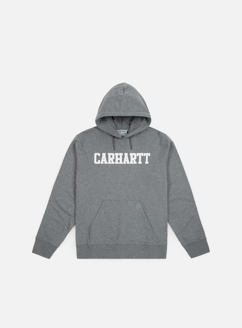 felpe carhartt hooded college sweatshirt dark grey heather white