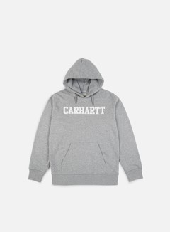 Carhartt - Hooded College Sweatshirt, Grey Heather/White