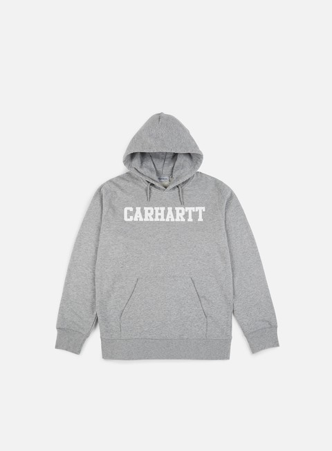 felpe carhartt hooded college sweatshirt grey heather white
