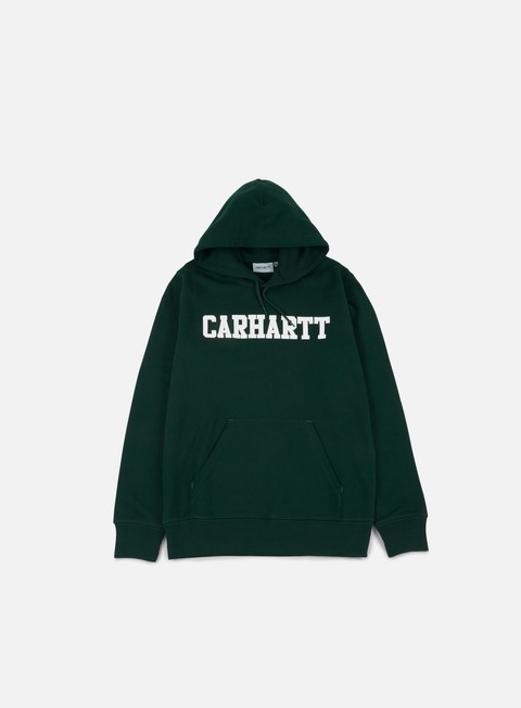 felpe carhartt hooded college sweatshirt parsley white