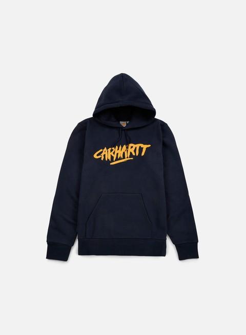 Felpe con Cappuccio Carhartt Hooded Painted Script Sweatshirt