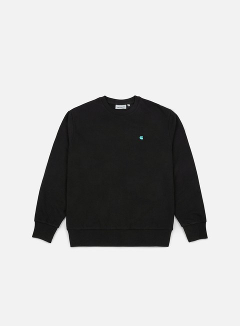 felpe carhartt madison sweatshirt black soft teal
