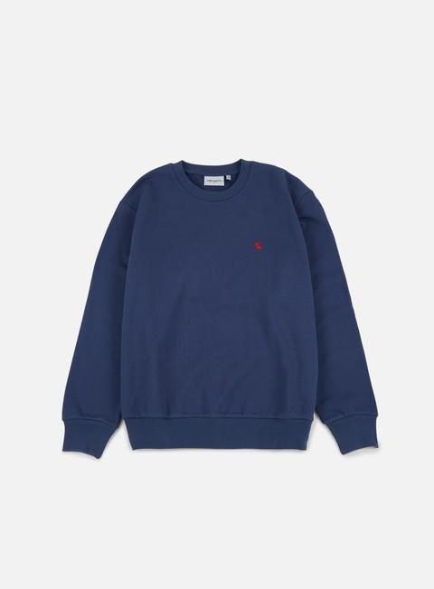felpe carhartt madison sweatshirt blue blast red
