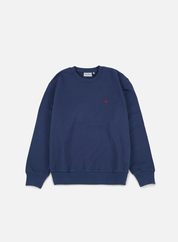 Carhartt - Madison Sweatshirt, Blue/Blast Red