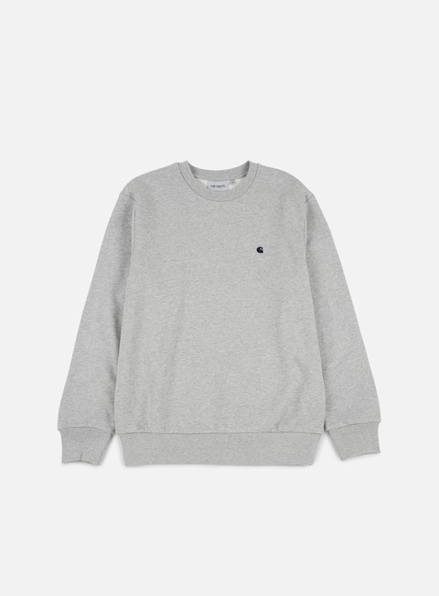 felpe carhartt madison sweatshirt grey heather navy