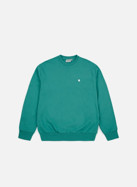 felpe carhartt madison sweatshirt soft teal white