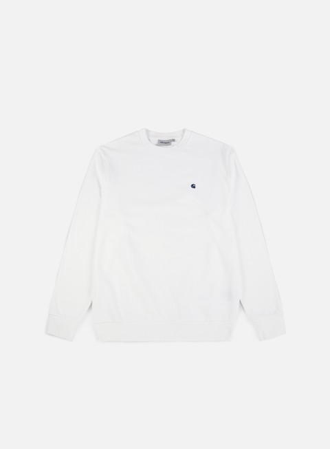 felpe carhartt madison sweatshirt white blue