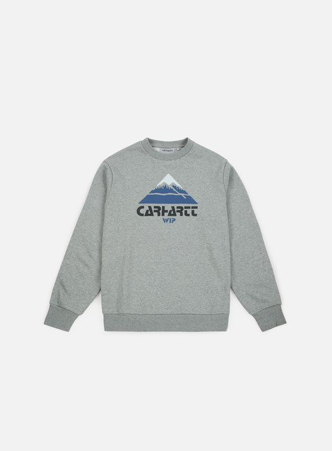 felpe carhartt mountain sweatshirt grey heather