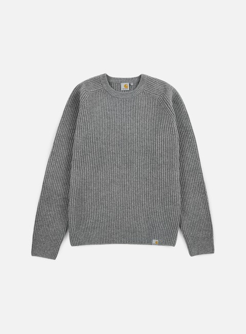 felpe carhartt rib sweater dark grey heather