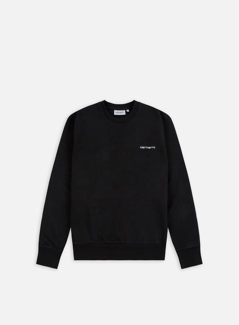 felpe carhartt script embroidery sweatshirt black white