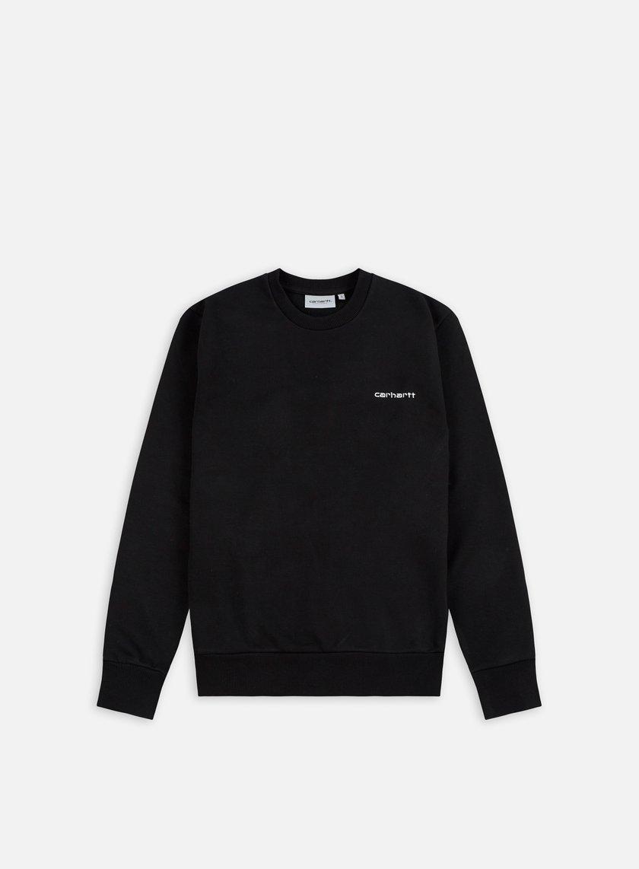 Carhartt - Script Embroidery Sweatshirt, Black/White