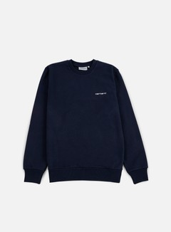 Carhartt - Script Embroidery Sweatshirt, Navy/White