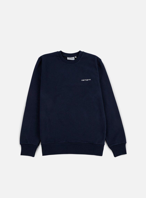 Carhartt - Script Embroidery Sweatshirt, Navy/White
