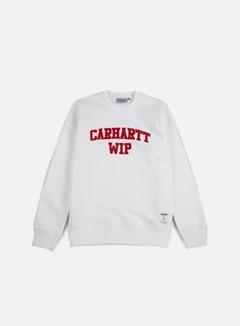 Carhartt - Sporty Sweatshirt, White/Chili 1
