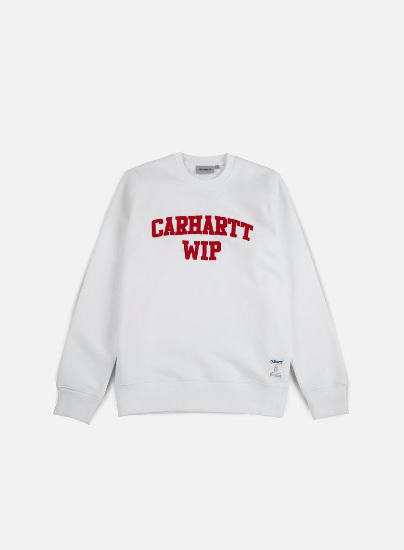 Carhartt - Sporty Sweatshirt, White/Chili