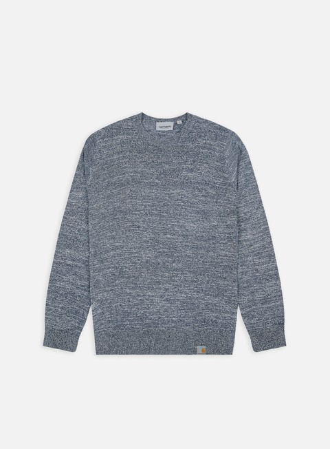 felpe carhartt toss sweater blue broken white