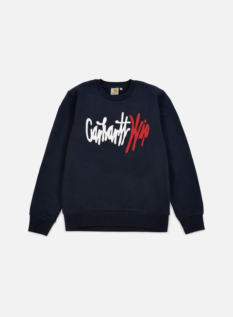 felpe carhartt wavy sweatshirt navy multi