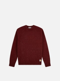 Carhartt WIP - Anglistic Sweater, Bordeaux Heather