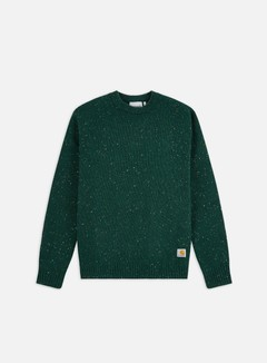 Carhartt WIP - Anglistic Sweater, Bottle Green Heather