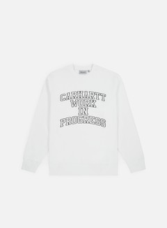 Carhartt - Wip Division Embroidery Crewneck, White/Black