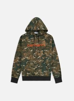 Carhartt WIP - Hooded Carhartt Sweatshirt, Camo Combi/Safety Orange