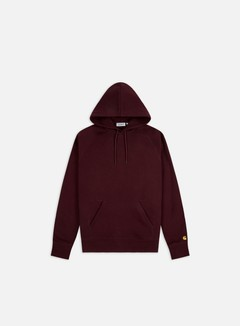 Carhartt WIP - Hooded Chase Sweatshirt, Bordeaux/Gold