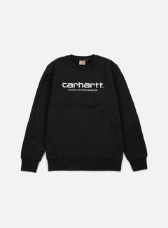 Carhartt - Wip Script Sweatshirt, Black/White 1