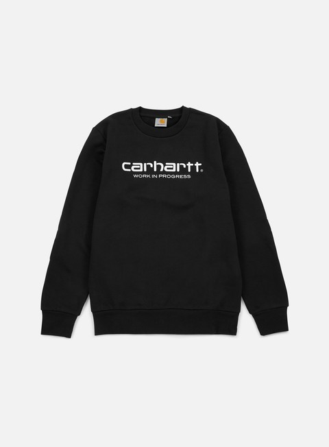 felpe carhartt wip script sweatshirt black white