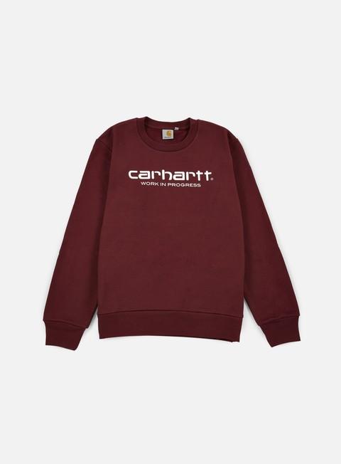 felpe carhartt wip script sweatshirt chianti white