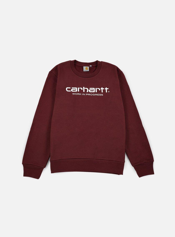 Carhartt - Wip Script Sweatshirt, Chianti/White