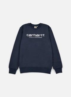 Carhartt - Wip Script Sweatshirt, Navy/White 1