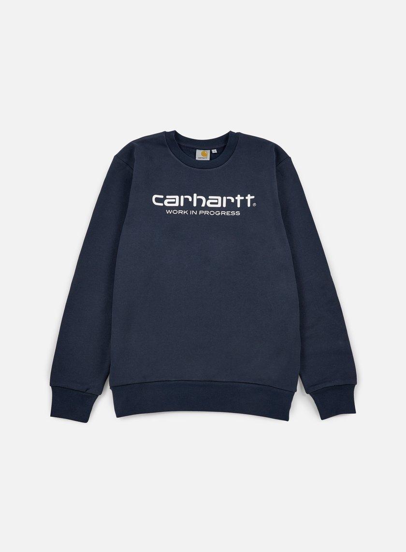 Carhartt - Wip Script Sweatshirt, Navy/White