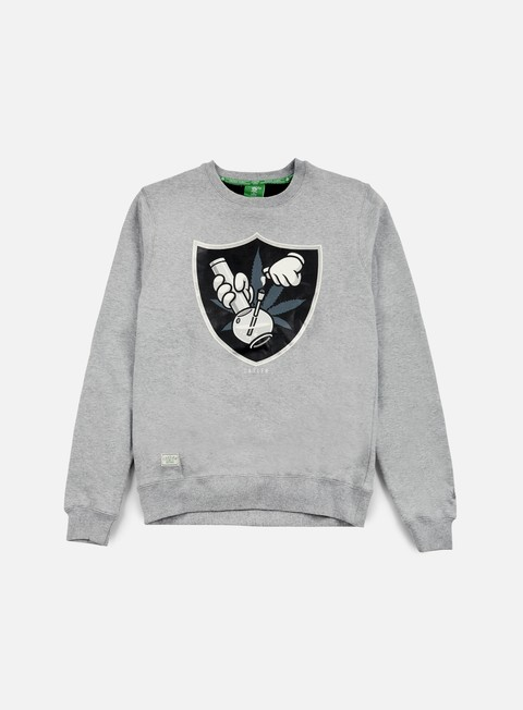 felpe cayler e sons 420 crewneck grey heather black grey