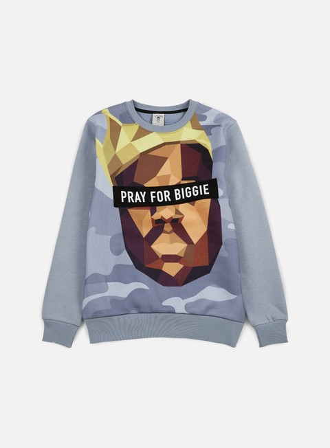 felpe cayler e sons bigasso crewneck heather grey multi