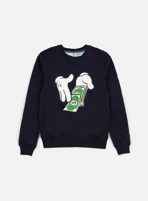 felpe cayler e sons get money crewneck navy white