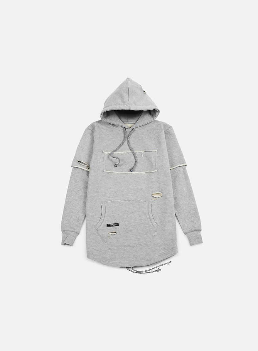 Cayler & Sons - Presidential Cut Off Layer Hoody, Distressed Grey Heather
