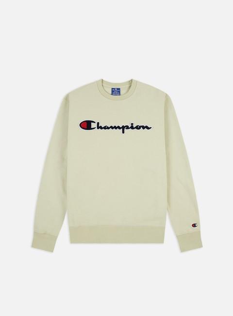 Sale Outlet Hooded Sweatshirts Champion Chenille Logo Crewneck
