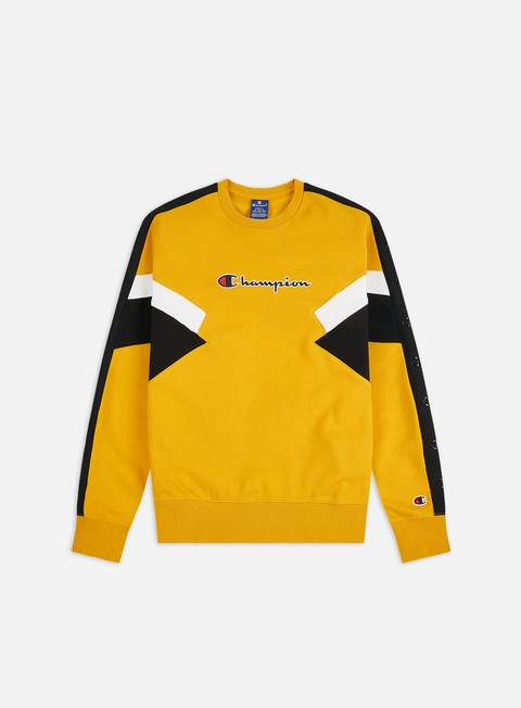 Felpe Girocollo Champion Colorblock Printed Logo Crewneck