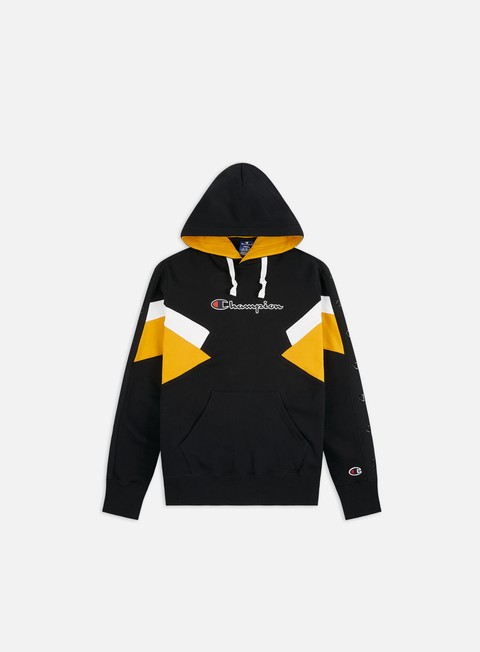 Hooded Sweatshirts Champion Colorblock Printed Logo Hoodie
