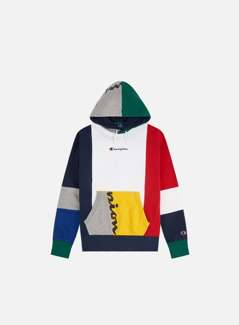 Champion Colour Block Patchwork Hoodie